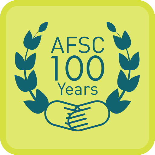 AFSC 100 Year logo arms and olive branches